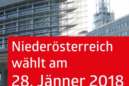 Niederösterreich wählt am28.1.2018