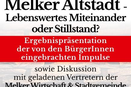 """Zweiter Teil der Melker Gespräche zum Thema """"Altstadt"""" am21.2.2019"""