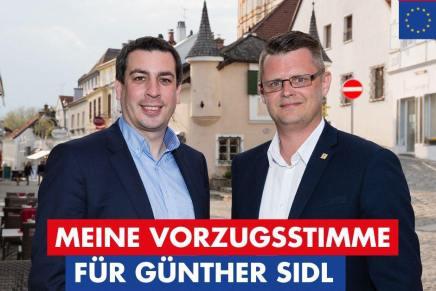 EU-Wahl 26.5.2019 – Vorzugsstimme für Dr. GüntherSidl
